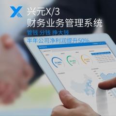 兴元X/3 财务业务一体化管理 5用户以下免费用! 标准版(财务管理) 用户/年