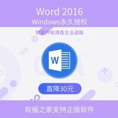 Word 2016 电子下载版 永久授权 电子下载版 Windows windows 永久授权 电子